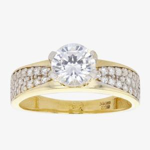 Petunia 9ct Gold DiamonFlash<sup>&reg;</sup> Cubic Zirconia Solitaire Ring