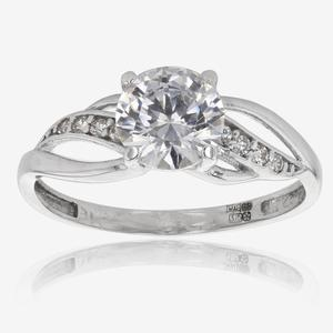 Petula 9ct White Gold DiamonFlash<sup>&reg;</sup> Cubic Zirconia Ring
