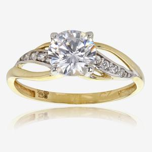 Petula 9ct Gold DiamonFlash<sup>®</sup> Cubic Zirconia Ring