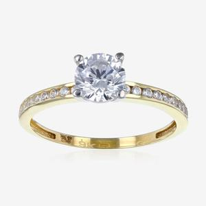 Torino 9ct Gold DiamonFlash<sup>®</sup> Cubic Zirconia Solitaire Ring