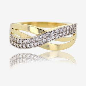 9ct Gold DiamonFlash® Cubic Zirconia Band Ring