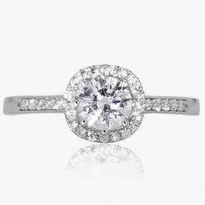 9ct White Gold DiamonFlash® Cluster Ring