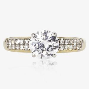 Serena 9ct Gold DiamonFlash® Solitaire Ring