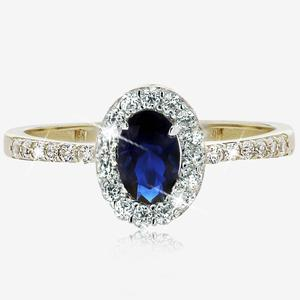 9ct Gold DiamonFlash® Cubic Zirconia Oval Cluster Ring