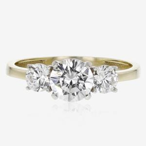 3adf653a0675aa SALE 9ct Gold 3 Stone DiamonFlash<sup>® ...