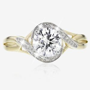 9ct Gold DiamonFlash® Cubic Zirconia Ring