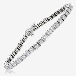 18ct White Gold Diamond Tennis Bracelet 3.00ct