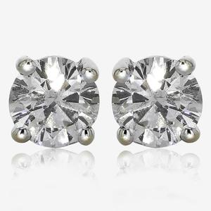 18ct White Gold Diamond Earrings 1.00ct