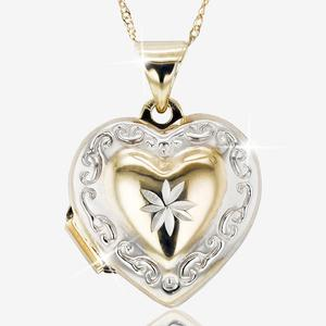 9ct Gold Heart Locket Necklace