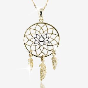 9ct Gold Dreamcatcher Necklace