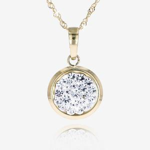 9ct Gold Crystal Necklace