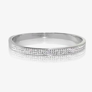 Serenity Sterling Silver Crystal Bangle