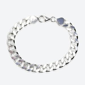 Sterling Silver Men's Curb Bracelet