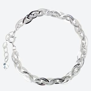 Sandrine Sterling Silver Diamond Cut Fancy Bracelet