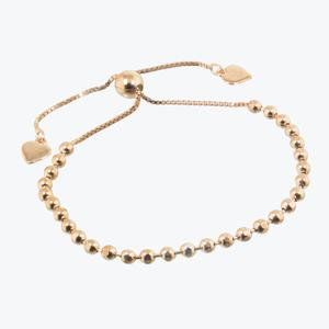 Sterling Silver Friendship Bracelet Rose Gold Finish