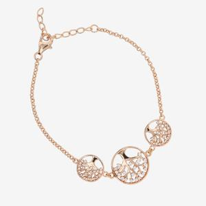 Sterling Silver Life's Tree Bracelet With Rose Gold Finish