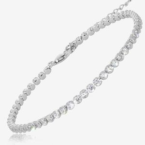 Sterling Silver DiamonFlash® Cubic Zirconia Tennis Bracelet
