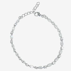 Sterling Silver DiamonFlash<sup>&reg;</sup> Cubic Zirconia Marquise Bracelet