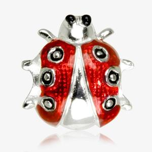 Real Sterling Silver Ladybird Threader Charm