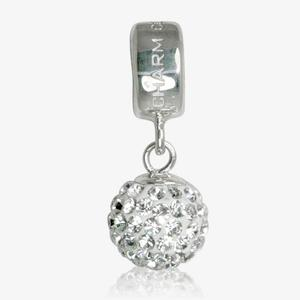 Real Sterling Silver Crystal Bead Dangler Charm