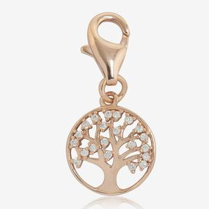 Sterling Silver DiamonFlash® Cubic Zirconia Life's Tree Charm