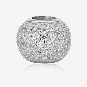 Sterling Silver DiamonFlash® Cubic Zirconia Ball Charm
