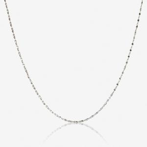 "Sterling Silver 18"" Singapore Chain"
