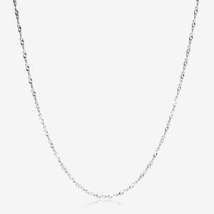"Sterling Silver 16"" Singapore Style Chain"