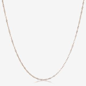 "Sterling Silver 18"" Rose Gold Finish Singapore Style Chain"