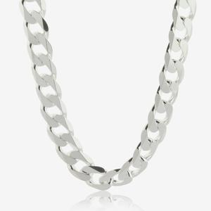 "Sterling Silver 22"" Curb Chain"