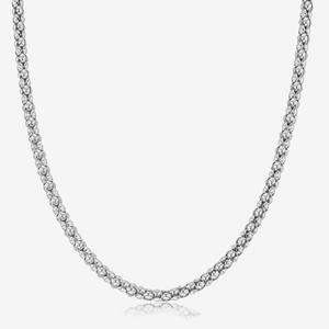 "Sterling Silver Ladies 24"" Popcorn Necklace"