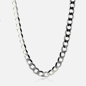 "Sterling Silver 22"" Diamond Cut Curb Chain"