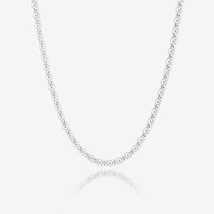 "Sterling Silver Ladies 30"" Popcorn Chain Necklace"