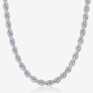 Sterling Silver 22 inch Rope Chain Necklace