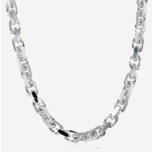 "Silver Solid 22"" Belcher Men's Chain"