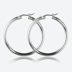 Evie Sterling Silver Creole Earrings