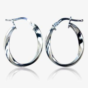 Florentina Sterling Silver Twist Creoles