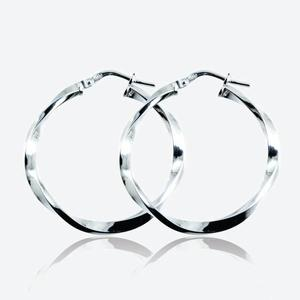 Ravenna Sterling Silver Twist Creole Earrings