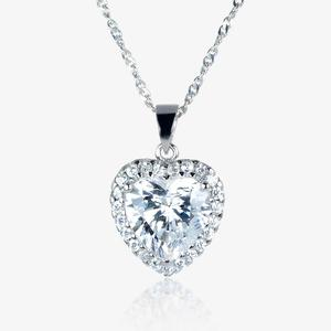 Naomi Sterling Silver DiamonFlash<sup>®</sup> Cubic Zirconia Necklace