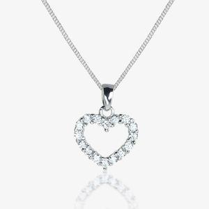 Mabel Rose Girl's Sterling Silver Heart Necklace