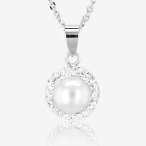 Silver necklaces silver necklaces for women save 50 arabella sterling silver cultured freshwater pearl necklace aloadofball Choice Image