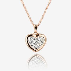 Tania Sterling Silver Heart Necklace Made With Swarovski® Crystals
