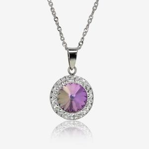 Angelina Sterling Silver Necklace Made With Swarovski® Crystals