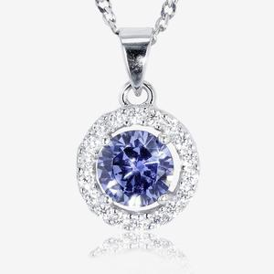 Amelia Sterling Silver DiamonFlash® Cubic Zirconia Necklace