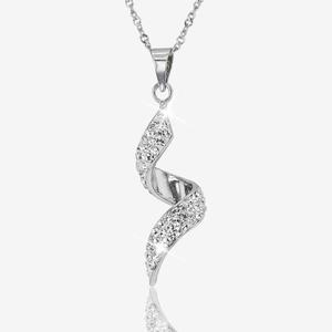 Sterling Silver Necklace Made With Swarovski® Crystals
