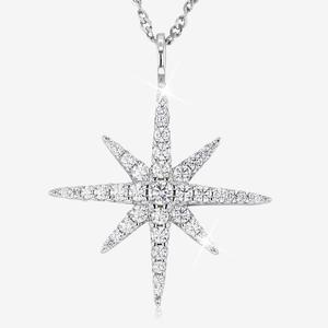 Sterling Silver DiamonFlash® Star Necklace