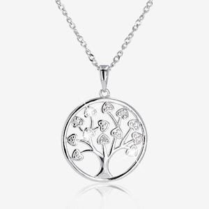 Silver Diamond Set Life's Tree Necklace