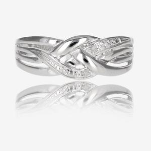 Sterling Silver Folds Of Diamonds Ring