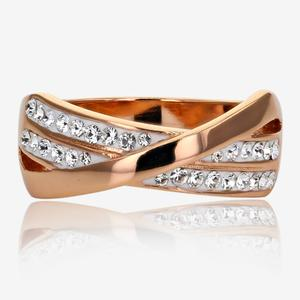 SAVE 60% Rose Gold Finish Lucille Sterling Silver Ring Made With  Swarovski sup ®   fb961d54f9