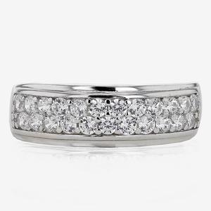 Pavia Sterling Silver DiamonFlash® Cubic Zirconia Band Ring